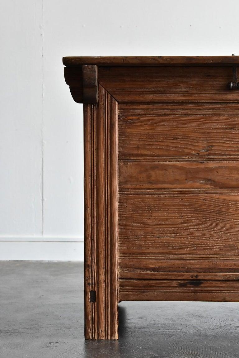 Pine Korean Old Wooden Stand / Wooden Box / Joseon Era 19th Century / Folk Art