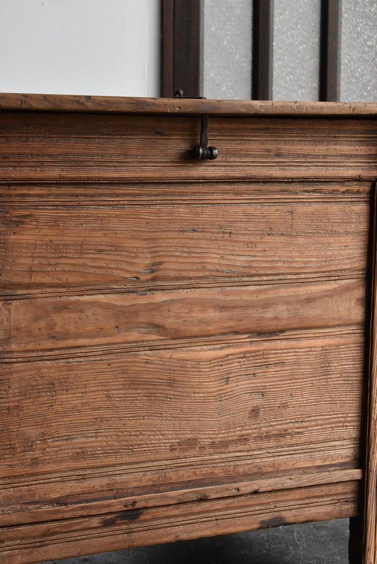 Korean Old Wooden Stand / Wooden Box / Joseon Era 19th Century / Folk Art 1