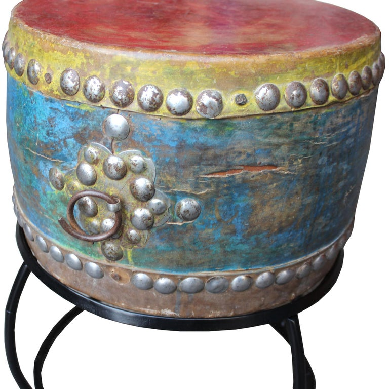 Late 19th Century Korean Shaman's Drum on Stand