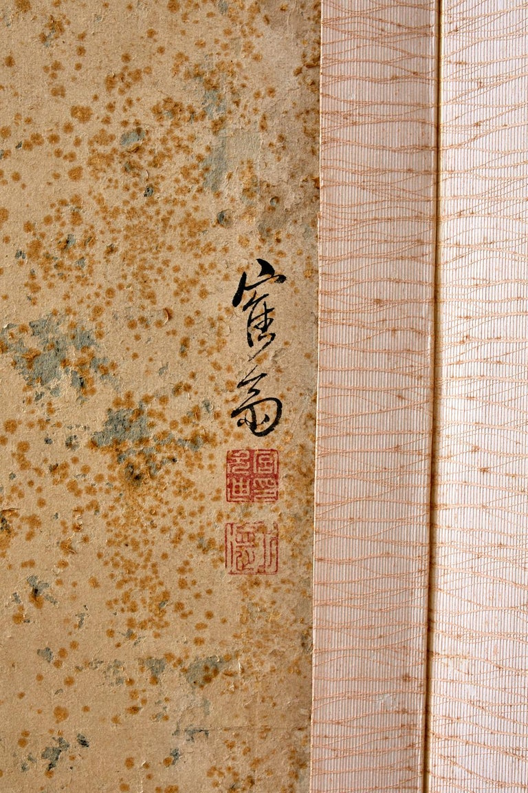 Korean Six-Panel Screen of Legendary Chinese Figures For Sale 3