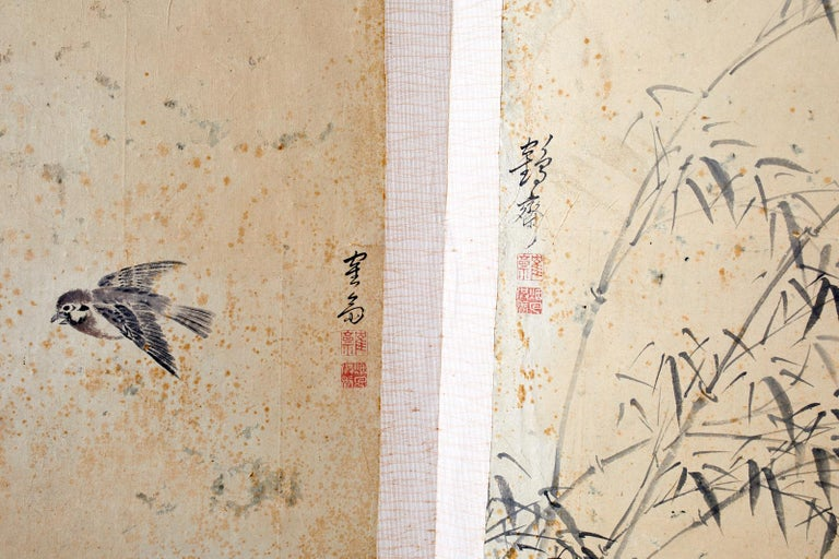 Korean Six-Panel Screen of Legendary Chinese Figures For Sale 6