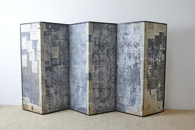 Korean Six-Panel Screen of Legendary Chinese Figures For Sale 12