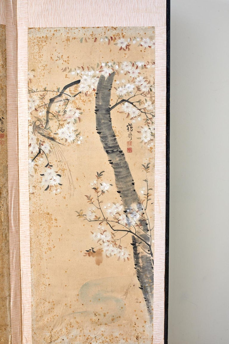Korean Six-Panel Screen of Legendary Chinese Figures For Sale 1