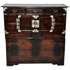 Korean Wedding Chest with Three Drawers
