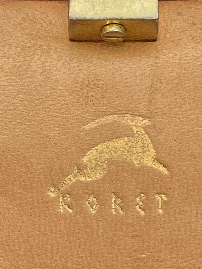 Koret Roses Frame Carpet Bag Rare 1960s Leather Interior Handbag For Sale 1