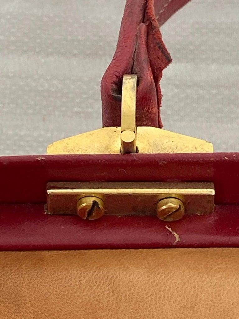 Koret Roses Frame Carpet Bag Rare 1960s Leather Interior Handbag For Sale 2