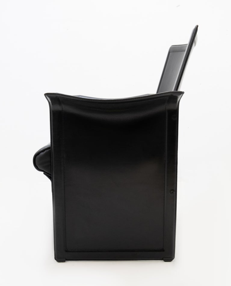 Korium Leather Armchair Tito Agnoli For Sale 4