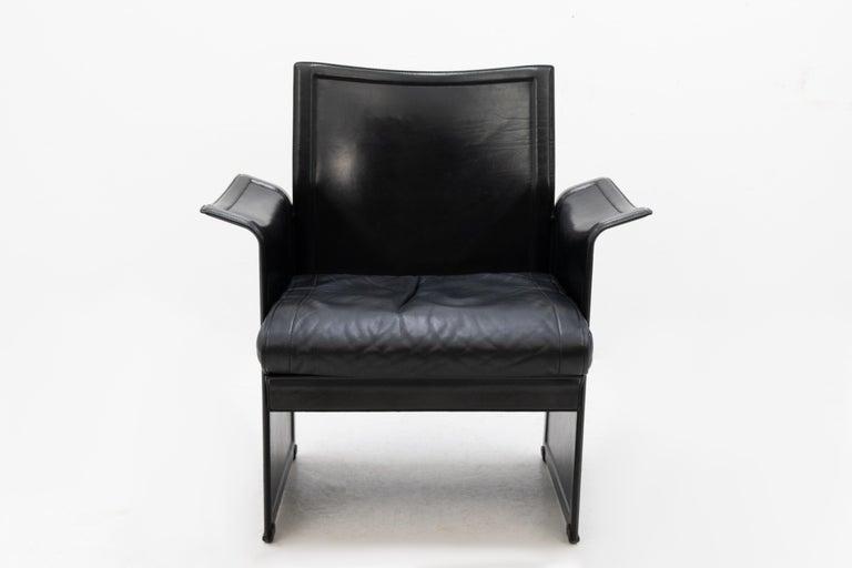 Korium Leather Armchair Tito Agnoli For Sale 5