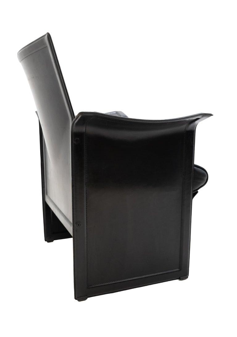 Italian Korium Leather Armchair Tito Agnoli For Sale