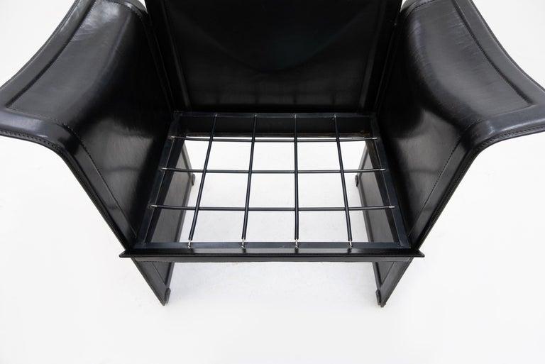 Late 20th Century Korium Leather Armchair Tito Agnoli For Sale