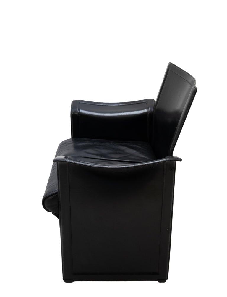 Korium Leather Armchair Tito Agnoli For Sale 3