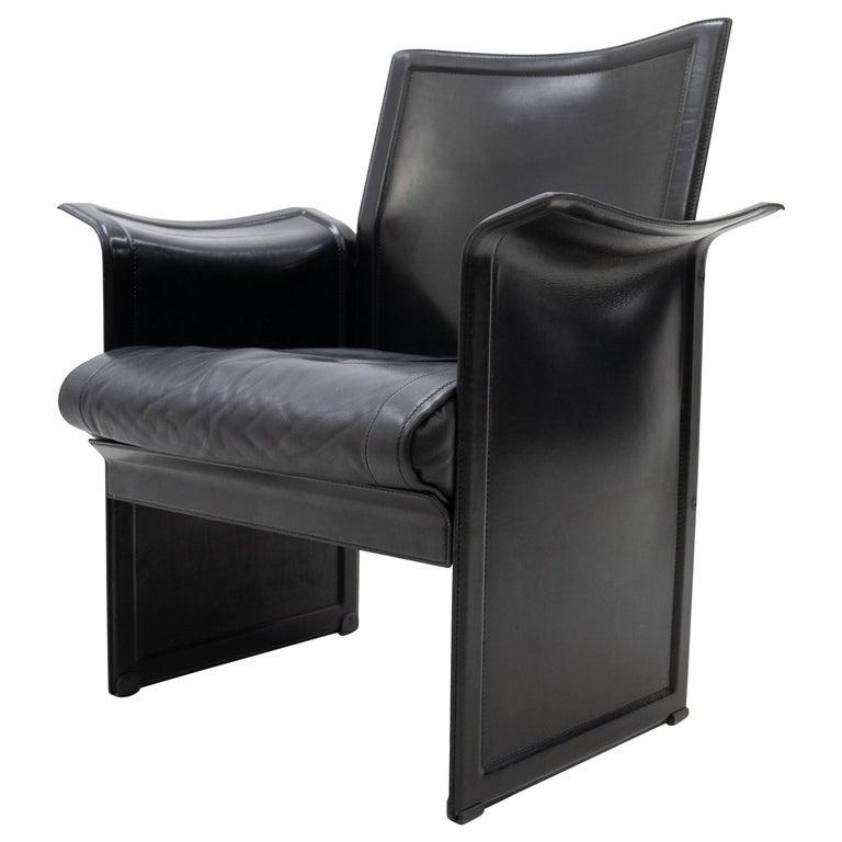 Korium Leather Armchair Tito Agnoli For Sale