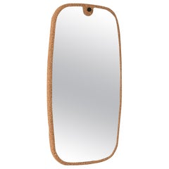 Kormirò Mirror in Natural Cork and Extra Light Mirror by Discipline Lab