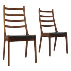Korup Stolefabrik Danish Teak High-Back Dining Chairs