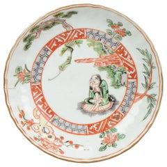 Kosometsuke Antique Chinese Ming Dynasty Plate China Porcelain Ko Akae