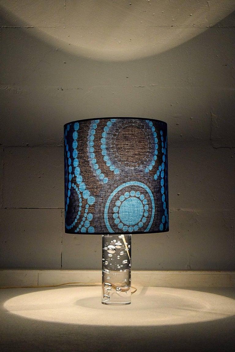 Cotton Kosta Boda Mid-Century Modern Table Lamp For Sale