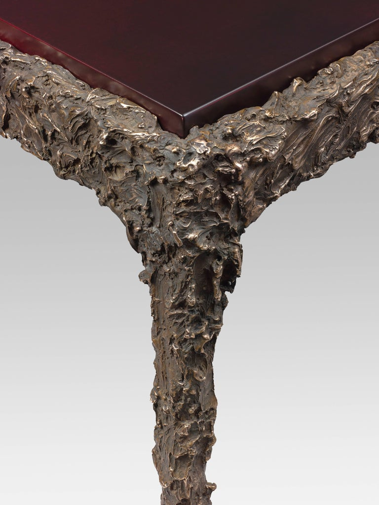Kostia, Lava table  Bronze and lacquered wood (marble top on special order)  Measure: 60 x 70 x 40 cm / 23.6 x 27.6 x 15.7 in. Edition of eight pieces and four artist proofs.