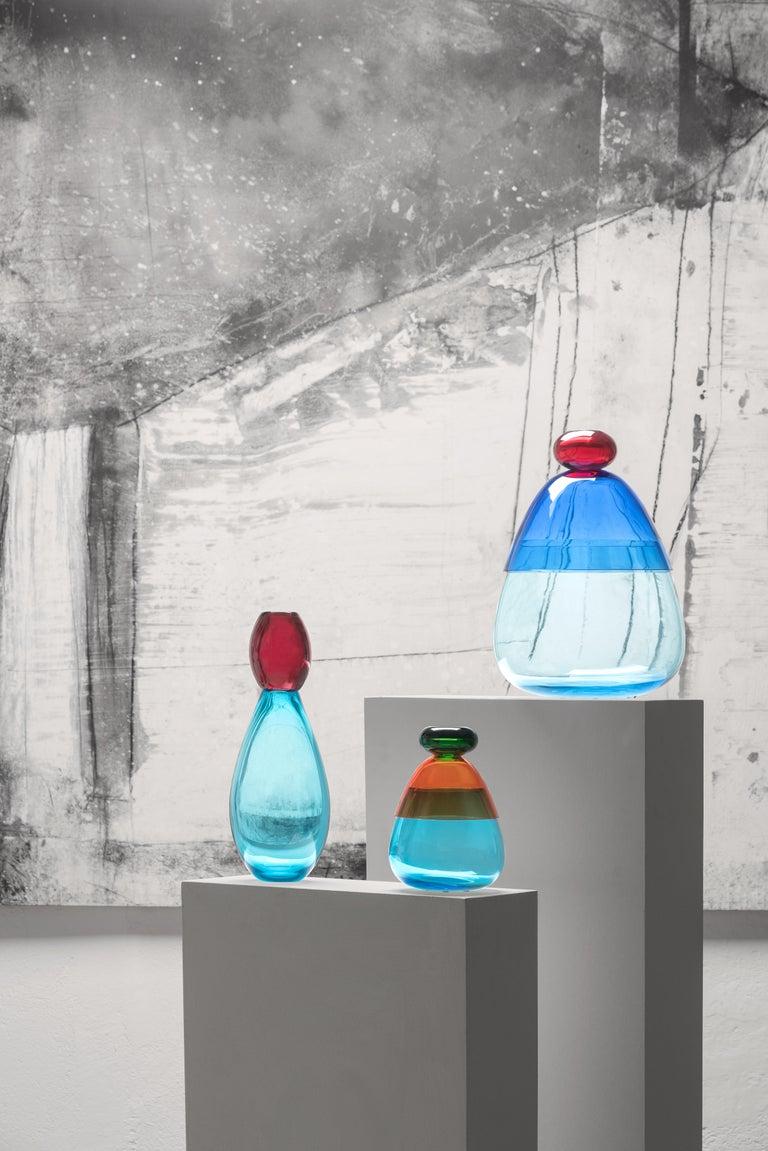 Italian Kount Large vase in Murano Glass by Karim Rashid For Sale