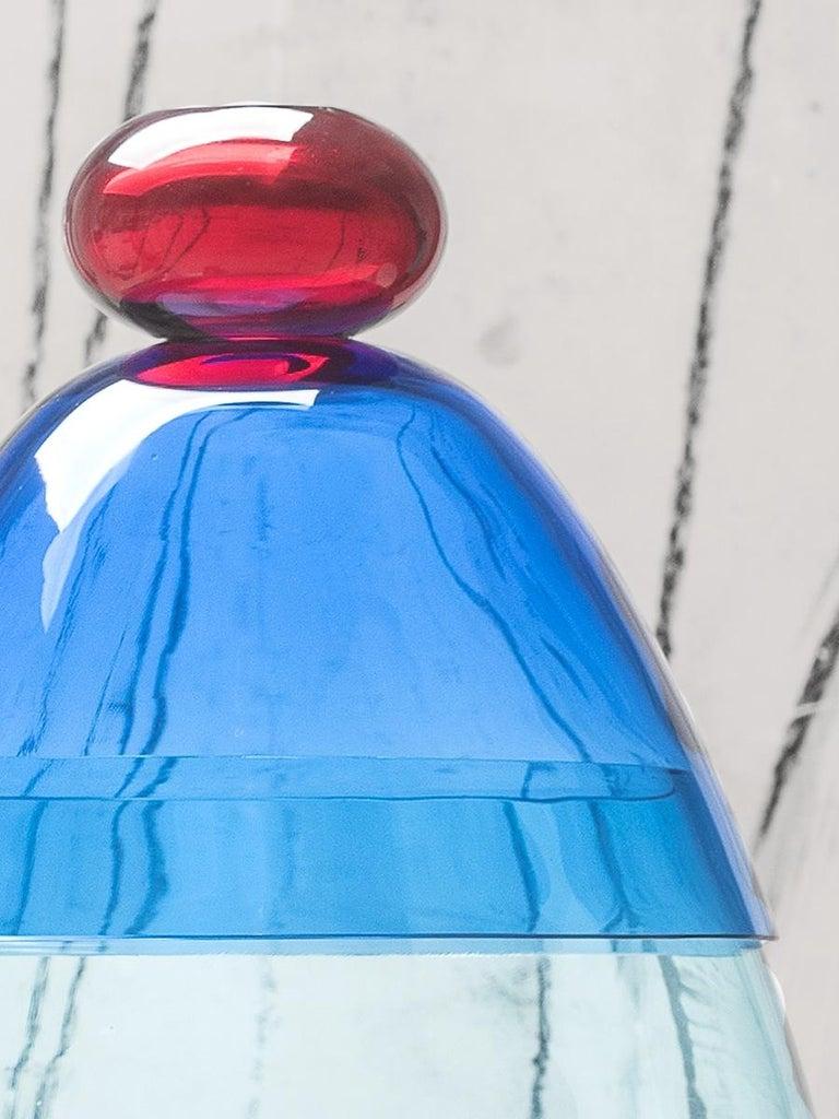 Kount Large vase in Murano Glass by Karim Rashid In New Condition For Sale In Brembate di Sopra (BG), IT