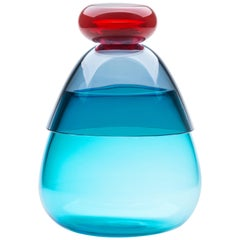 Kount Large vase in Murano Glass by Karim Rashid