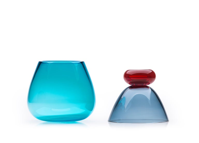 Italian 21st Century Karim Rashid Centerpiece Vase Murano Glass Various Colors For Sale