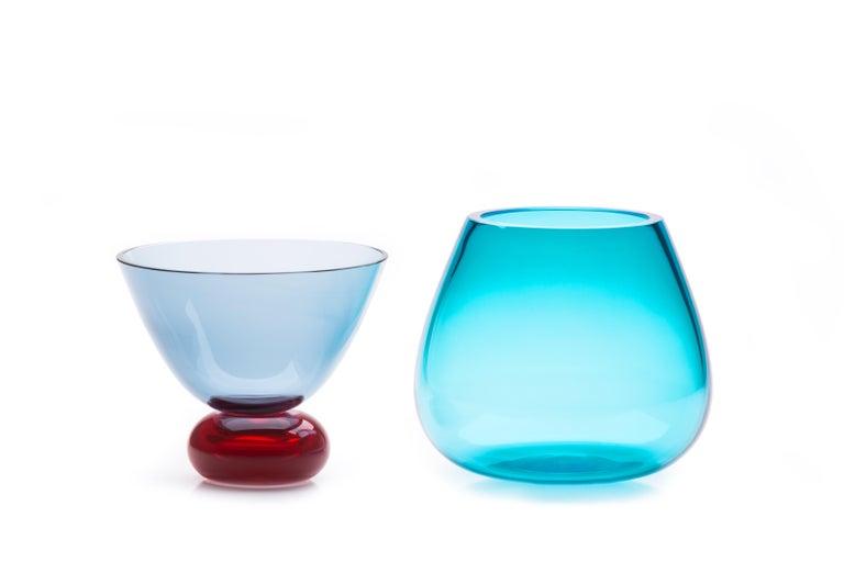 Modern 21st Century Karim Rashid Centerpiece Vase Murano Glass Various Colors For Sale