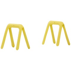 Kozka Table Base in Canary Yellow Steel by Zieta