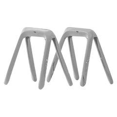 Kozka Polished Stainless Steel Writing Table by Zieta