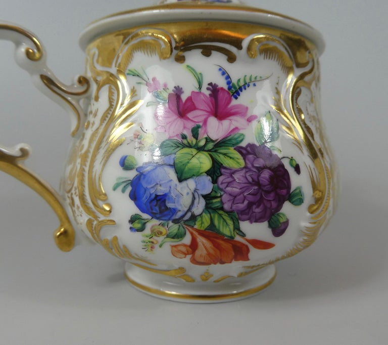 KPM Berlin Porcelain Chocolate Cup, Cover and Stand, circa 1860 3