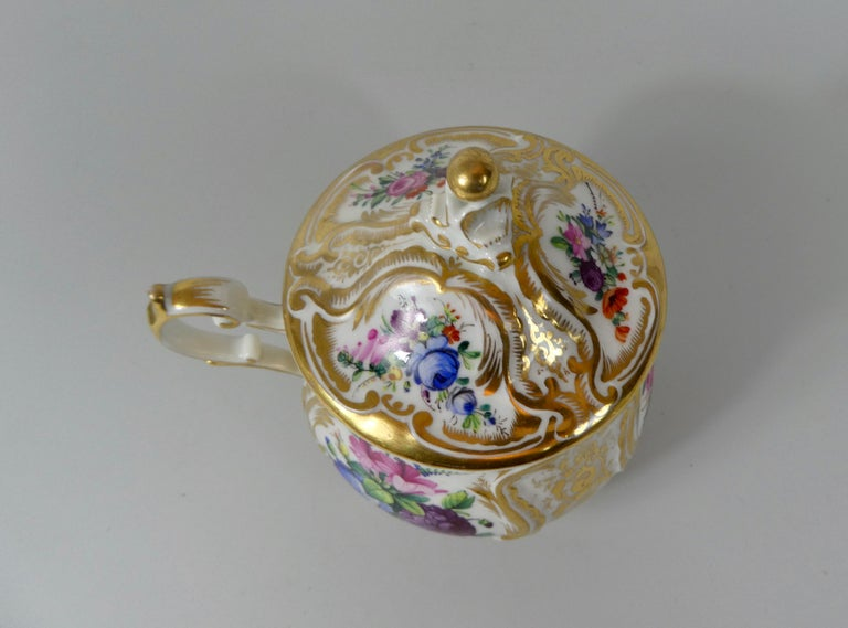 KPM Berlin Porcelain Chocolate Cup, Cover and Stand, circa 1860 4