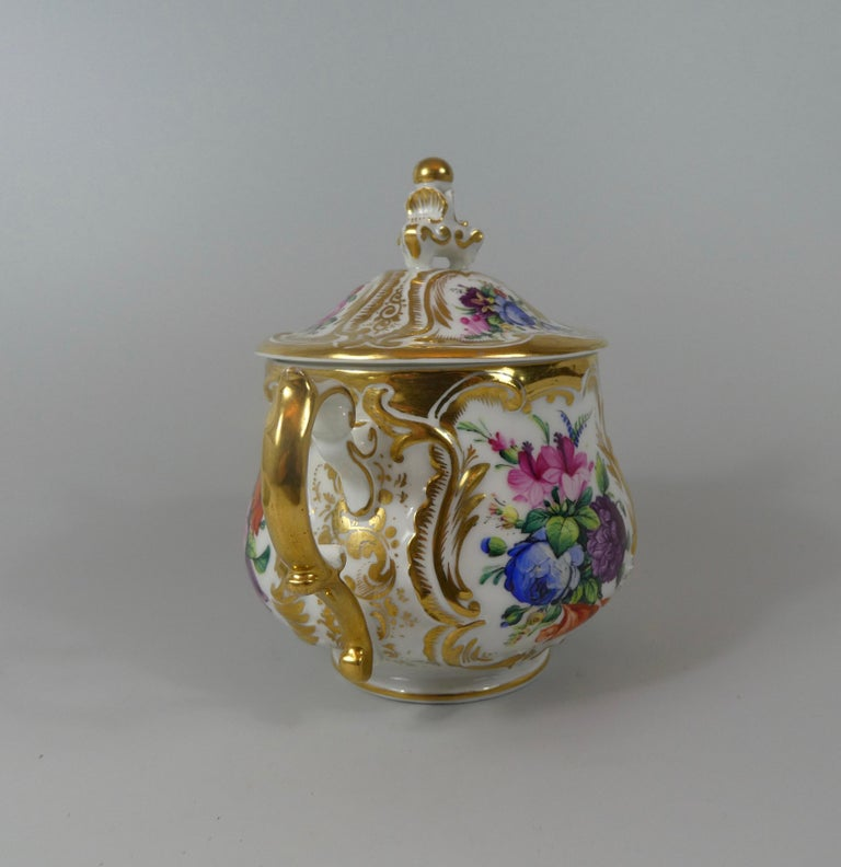 KPM Berlin Porcelain Chocolate Cup, Cover and Stand, circa 1860 5