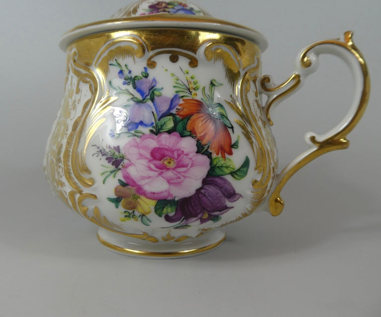 KPM Berlin Porcelain Chocolate Cup, Cover and Stand, circa 1860 6