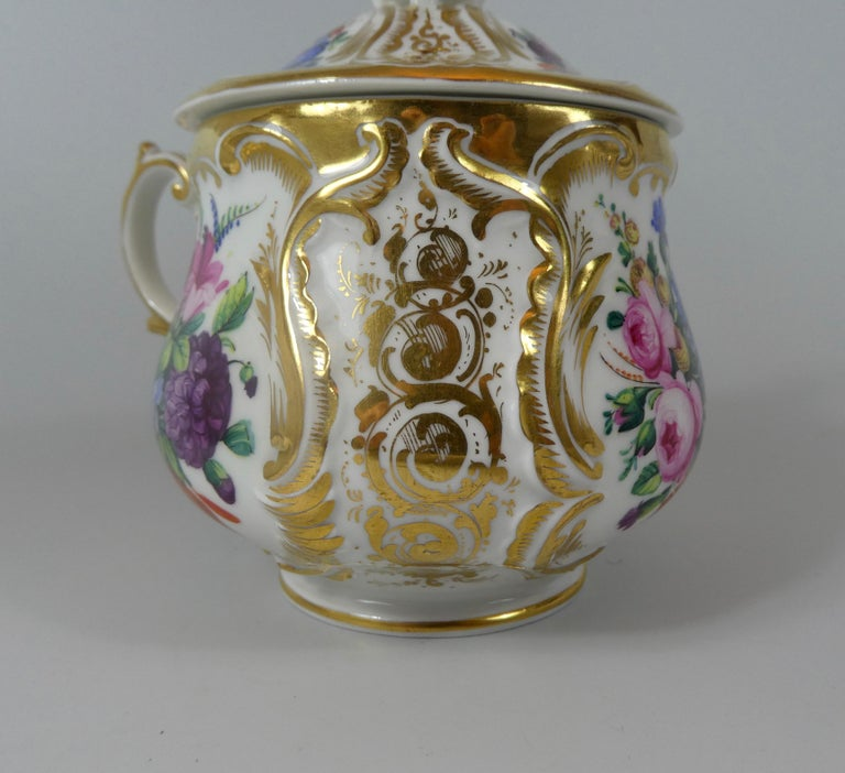 KPM Berlin Porcelain Chocolate Cup, Cover and Stand, circa 1860 1