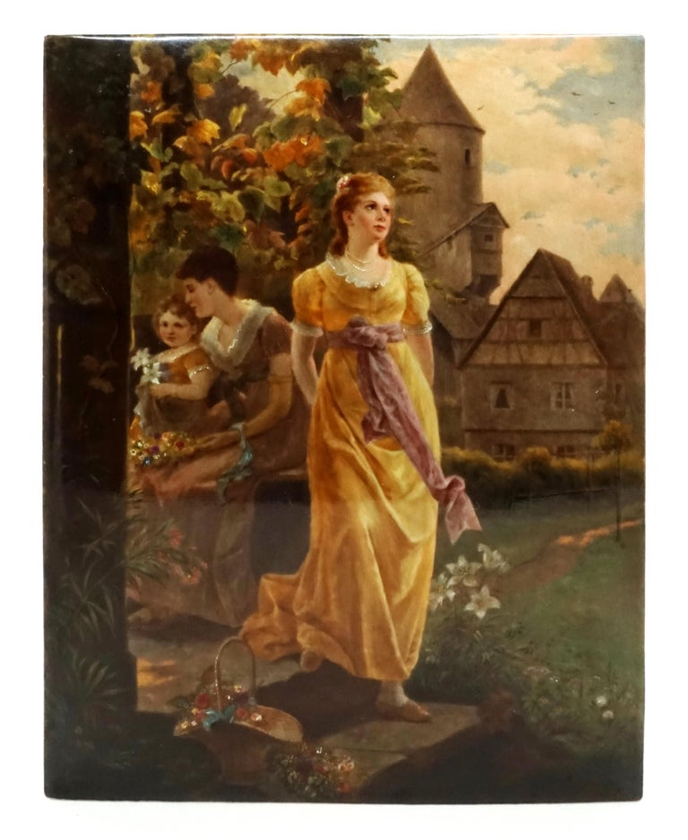 Romantic KPM Berlin Porcelain Plaque 'Summer Evening' by Louis Knoeller, circa 1900 For Sale