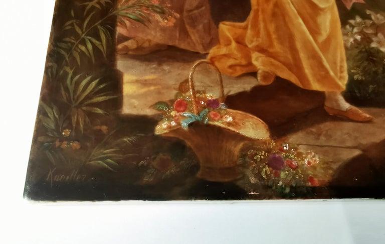 German KPM Berlin Porcelain Plaque 'Summer Evening' by Louis Knoeller, circa 1900 For Sale