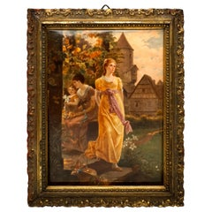 KPM Berlin Porcelain Plaque 'Summer Evening' by Louis Knoeller, circa 1900