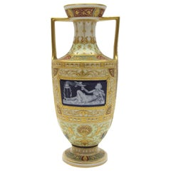 KPM Berlin Porcelain Vase with Rich Pate sure Pate, Enamel and Gold Painting