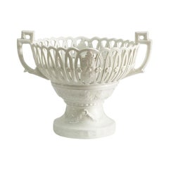 KPM Berlin white porcelain basket on base, Germany, 1945-1962