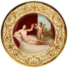 "KPM Cabinet Plate, after Guido Reni ""Reclining Venus with Cupid"""