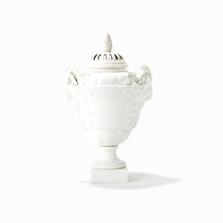 Porcelain KPM Pair of Potpourri Vases, 1904 For Sale