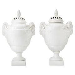 KPM Pair of Potpourri Vases, 1904