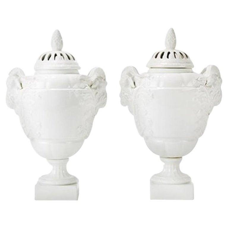 KPM Pair of Potpourri Vases, 1904 For Sale