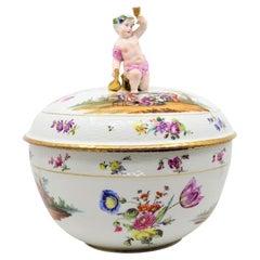 KPM Porcelain Bowl with Child Toasting Wine