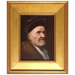 KPM Porcelain Hand Painted Plaque of Rembrandt's Father, circa 1871