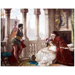 KPM Porcelain Plaque Depicting a Scene from Othello