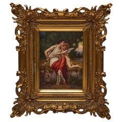 KPM Porcelain Plaque of a Goddess and Cupid