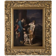 KPM Porcelain Plaque of Hagar and Ishmael Banished from the House of Abraham
