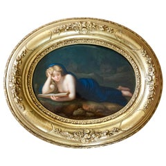 KPM Porcelain Plaque of Mary Magdalene