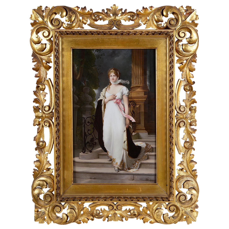 KPM Porcelain Plaque of the Prussian Queen Louis of Mecklenburg-Strelitz
