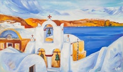 Santorini, Landscape With A Church